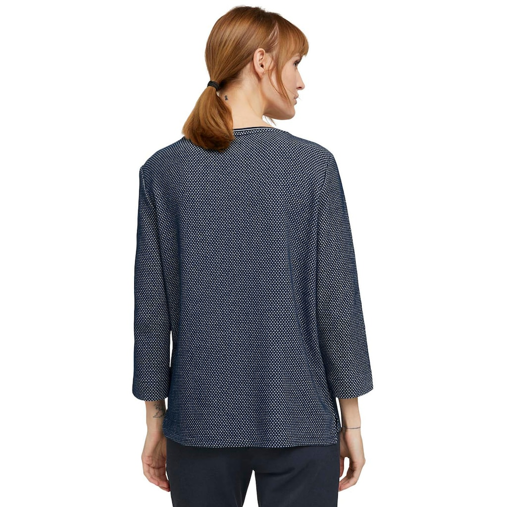 TOM TAILOR Sweater, mit Seitenschlitzen an Saum und Ärmel