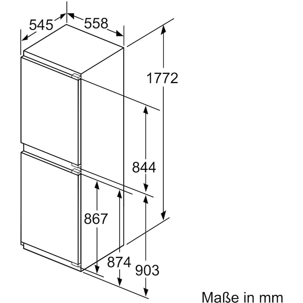 SIEMENS Einbaukühlgefrierkombination »KI85NADE0«, iQ500