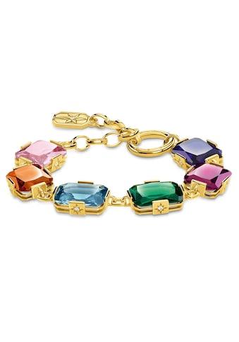 THOMAS SABO Armband »Große farbige Steine gold, A1911-996-7-L19v«, mit synth. Korund,... kaufen