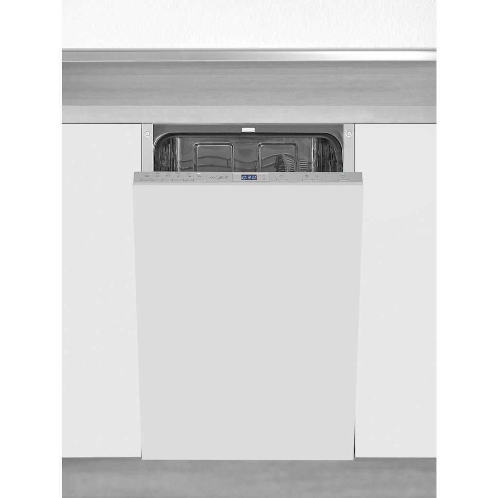 exquisit vollintegrierbarer Geschirrspüler »EGSP2109-E-030E silber«, EGSP2109-E-030E silber, 9 l, 9 Maßgedecke