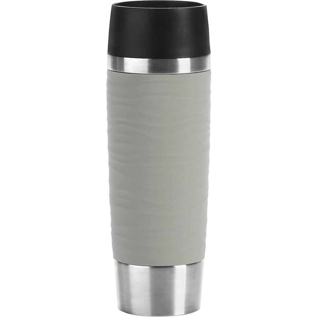 Emsa Thermobecher »Travel Mug Waves Grande«, Edelstahl, 500 ml Inhalt, auslaufsicher, 6h heiß, 12h kalt, doppelwandig, spülmaschinenfest