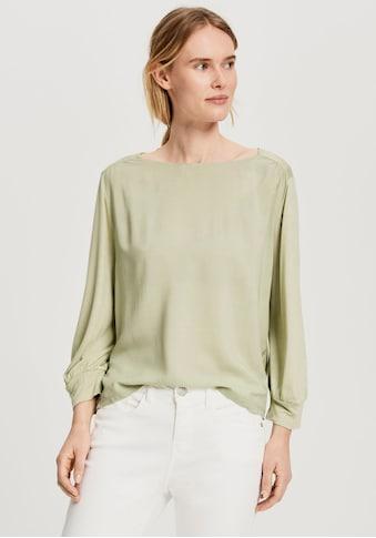 OPUS Langarmshirt »Samova«, in Blusen Optik mit Raffungen am Ärmel und der Schulter kaufen