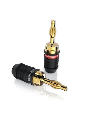 Primewire Audioadapter Bananenstecker für Kabel bis 3,5mm² »für Verstärker,... kaufen