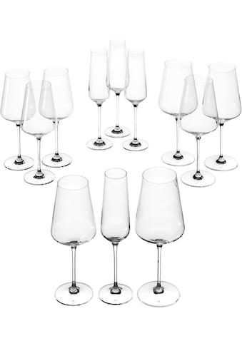 LEONARDO Gläser-Set »Puccini«, (Set, 12 tlg., 4 Sektgläser, 4 Rotweingläser, 4... kaufen