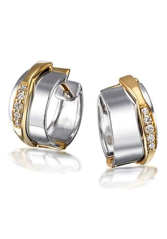 goldmaid Paar Creolen 925/ -  Silber 10 Brillanten 0,10 ct. P2/H kaufen