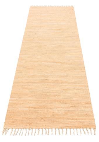 my home Läufer »Ares«, rechteckig, 5 mm Höhe, handgewebt, mit Fransen kaufen