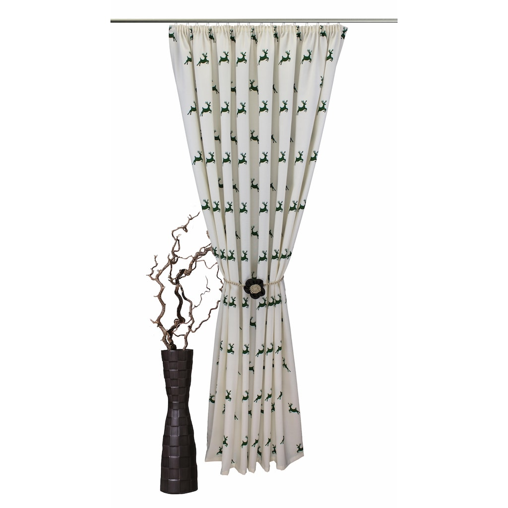 VHG Vorhang »Hans Hirsch«, Leinenoptik
