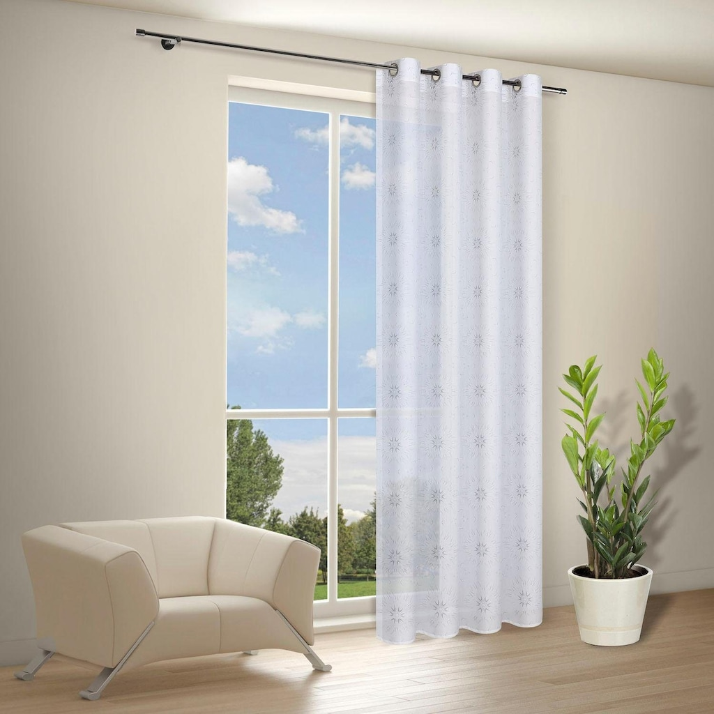Gerster Vorhang »Gian«, HxB: 235x140, Moderner Ösenschal bedruckt