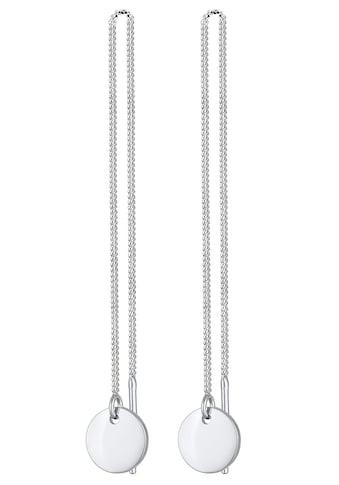 Elli Paar Ohrhänger »Ohrringe Ohhänger Plättchen Kreis Durchzieher 0303730320,... kaufen