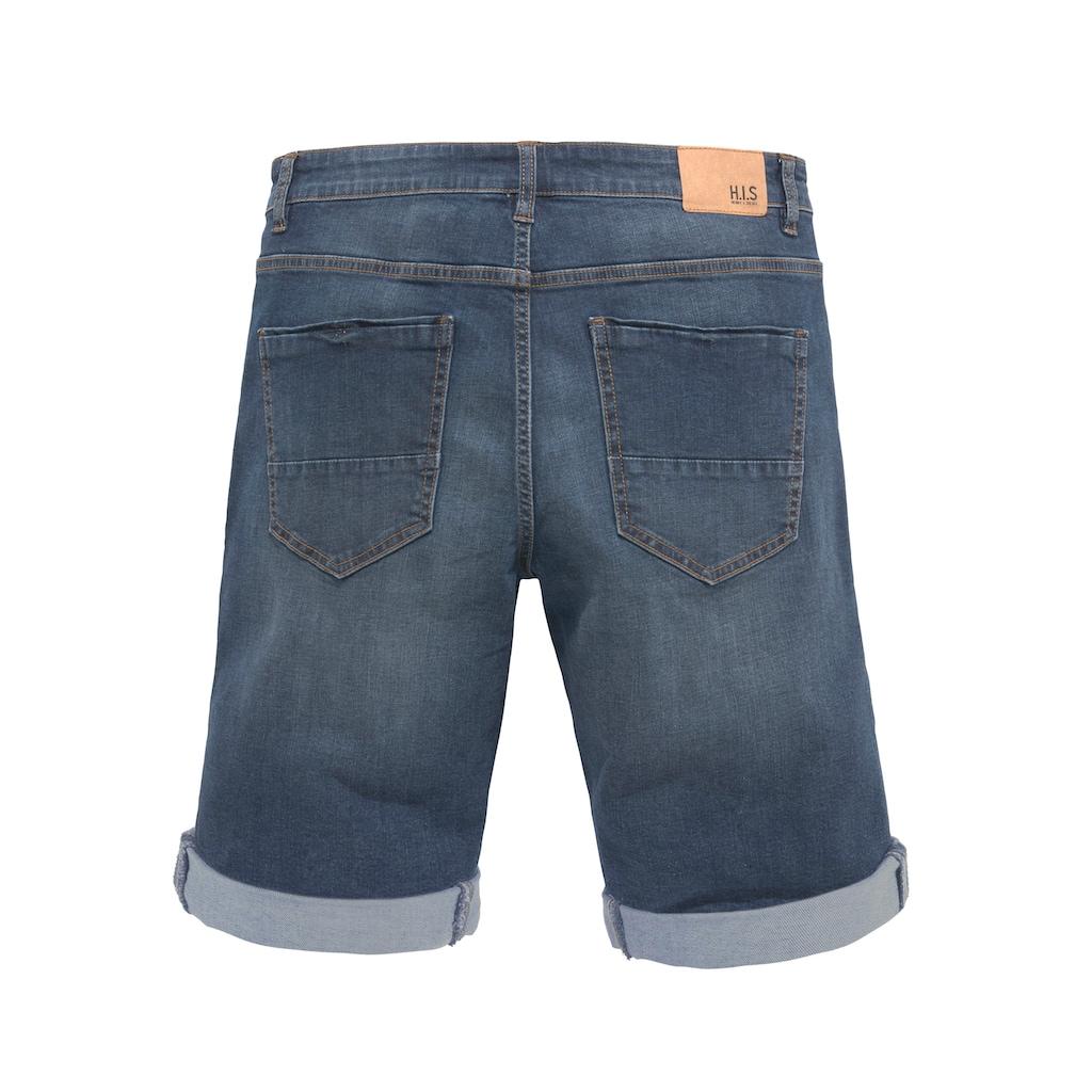 H.I.S Jeansshorts »DEYO«, Nachhaltige, wassersparende Produktion durch OZON WASH