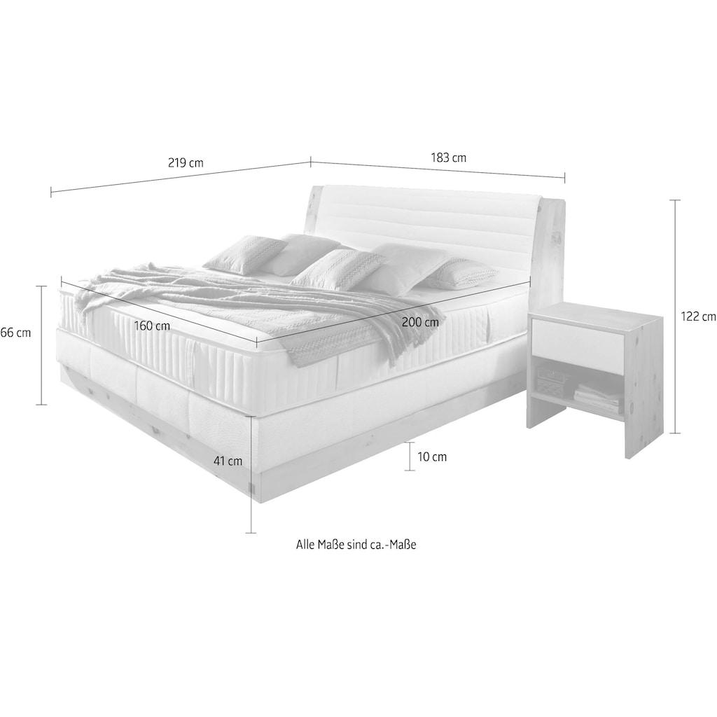 ADA premium Boxspringbett »Chalet«, Grand Comfort TF 1000 PM, Zirbenholz natur geölt