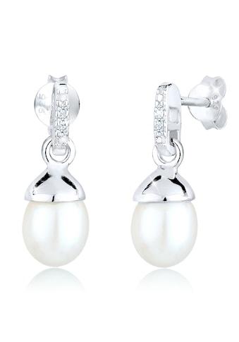 Diamore Paar Ohrhänger »Süßwasserzuchtperle Diamant 0.06 ct. 925 Silber« kaufen