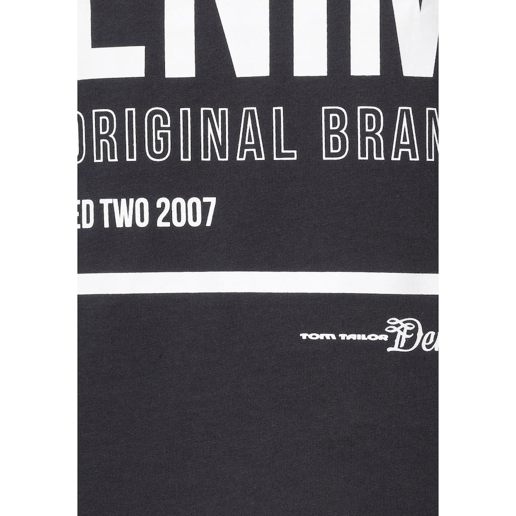 TOM TAILOR Denim T-Shirt, mit Logofrontprint