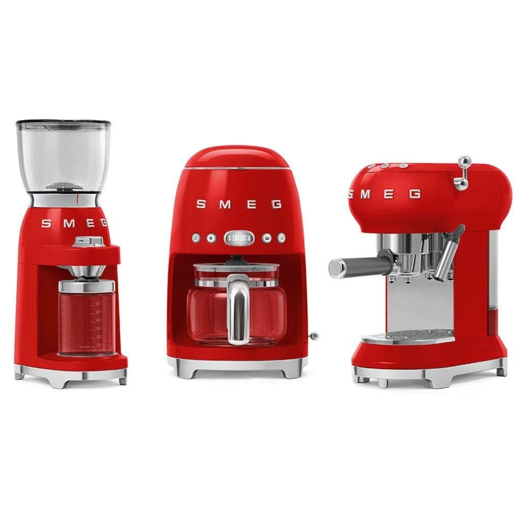 Smeg Kaffeemühle »CGF01RDEU«, 150 W, Kegelmahlwerk, 350 g Bohnenbehälter