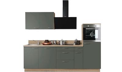 Express Küchen Küchenzeile »Scafa«, mit E-Geräten, vormontiert, mit Vollauszügen und... kaufen
