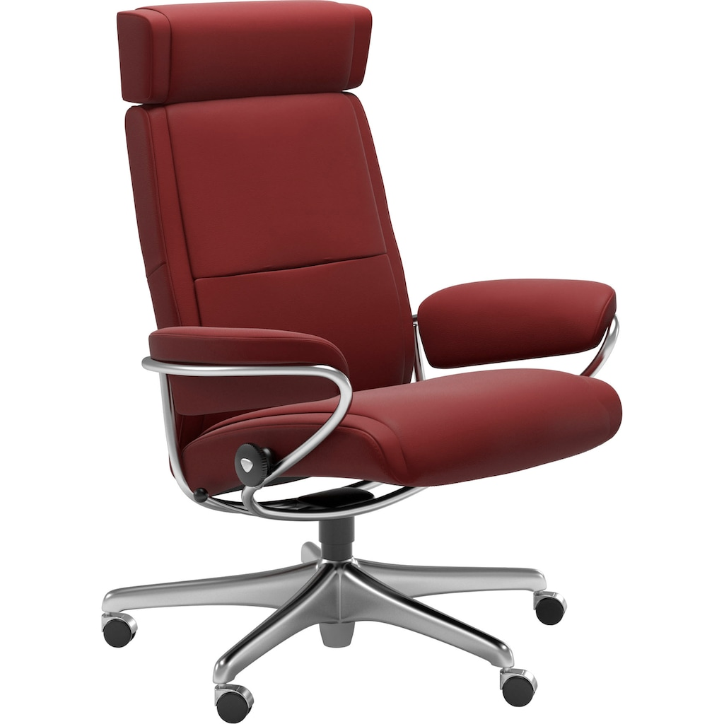 Stressless® Relaxsessel »Paris«, Low Back mit Kopfstütze, mit Home Office Base, Gestell Chrom