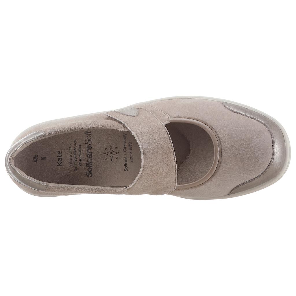 SOLIDUS Klettschuh »KATE«, in Schuhweite K (extraweit)