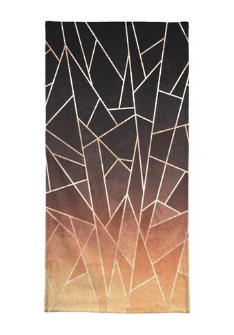 Juniqe Handtuch »Shattered Ombre«, (1 St.), Weiche Frottee-Veloursqualität kaufen