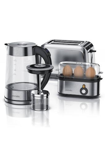 Arendo Frühstücks-Set 3-teilig in Edelstahl Optik kaufen