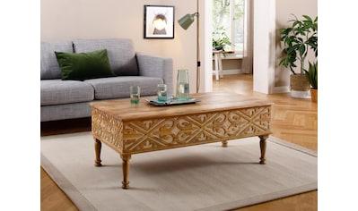 Home affaire Couchtisch »Spring«, aus massivem Mangoholz mit schönen detailreichen... kaufen