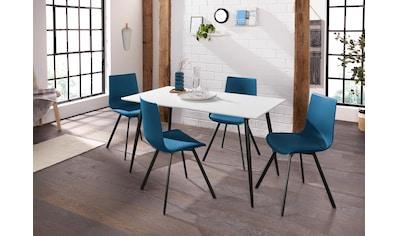INOSIGN Essgruppe »Dino 1- Lucky«, mit Esstisch, Breite 140 cm und 4 Stühlen kaufen