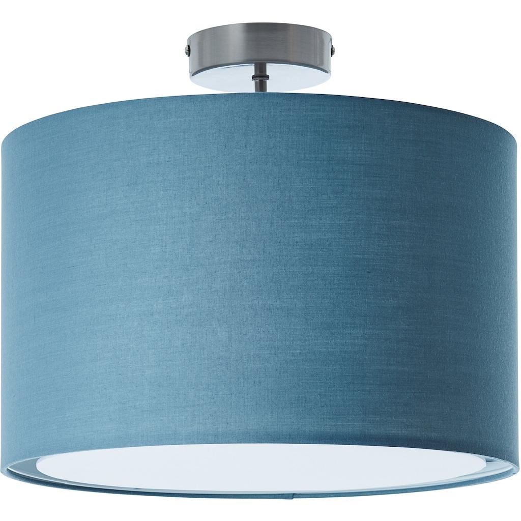 Lüttenhütt Deckenleuchte »Lüchte«, E27, Deckenlampe mit Stoffschirm blau / petrol, Ø 40 cm, Höhe 32 cm