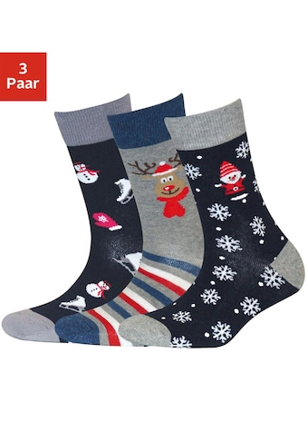 Sympatico Socken, (3 Paar), mit Weihnachts-Design kaufen