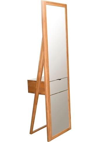 andas Ganzkörperspiegel »Scandi«, aus massivem Eichenholz, mit einer Schublade, Breite 56 cm kaufen