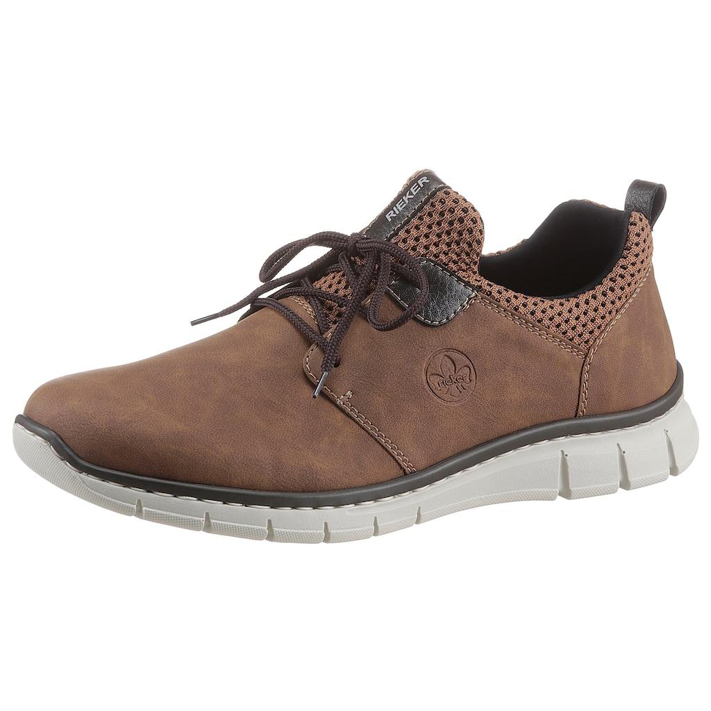 Rieker Slip-On Sneaker, mit aufgesetzter Schnürung