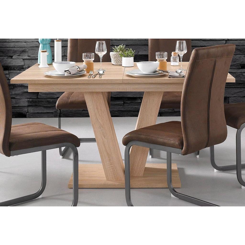 Homexperts Esstisch, Breite 140 oder 160 cm, mit Auszugsfunktion