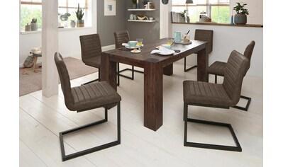 Home affaire Essgruppe »Bine«, (Set, 7 tlg.), bestehend aus 6 Sabine Stühlen ohne... kaufen