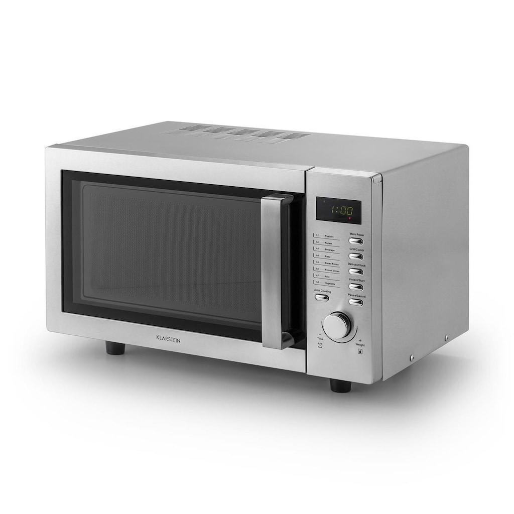 Klarstein Mikrowelle 23 liter Einbaugerät Grillfunktion Edelstahl Groß