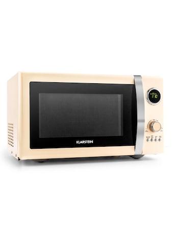Klarstein 2in1 Mikrowellen-Ofen Retro mit Grillfunktion Grillrost 23L kaufen