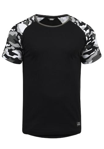 Solid Rundhalsshirt »Cahil«, Kurzarmshirt mit Tarnmuster-Print kaufen