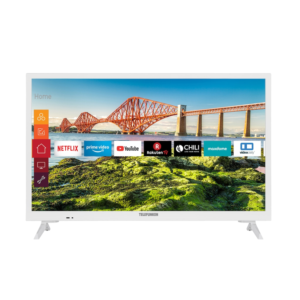 "Telefunken LED-Fernseher »XH24J501V-W«, 60 cm/24 "", HD-ready, Smart-TV"