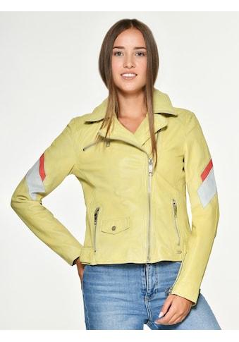 Maze Lederjacke mit Farbkombination »Reedley« kaufen