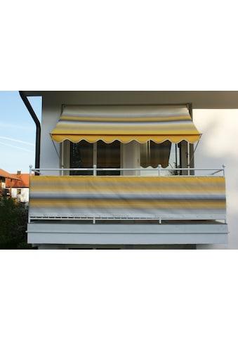 Angerer Freizeitmöbel Balkonsichtschutz, Meterware, gelb/grau, H: 5 cm kaufen