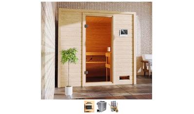Karibu Sauna »Ricky«, 4,5-kW-Bio-Ofen mit ext. Steuerung kaufen