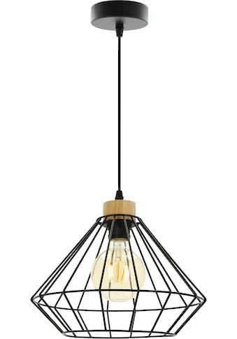 BRITOP LIGHTING Pendelleuchte »RAQUELLE«, E27, Hängeleuchte, Originelle Leuchte aus Metall und Eichenholz, Passend LM E27, Kabel kürzbar, Made in Europe kaufen