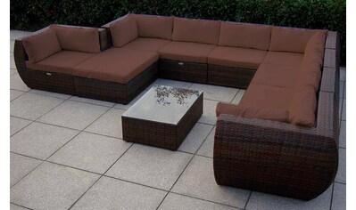 BAIDANI Loungeset »Extreme«, 1 XXL Sofa, 1 Hocker, Tisch, Polyrattan kaufen