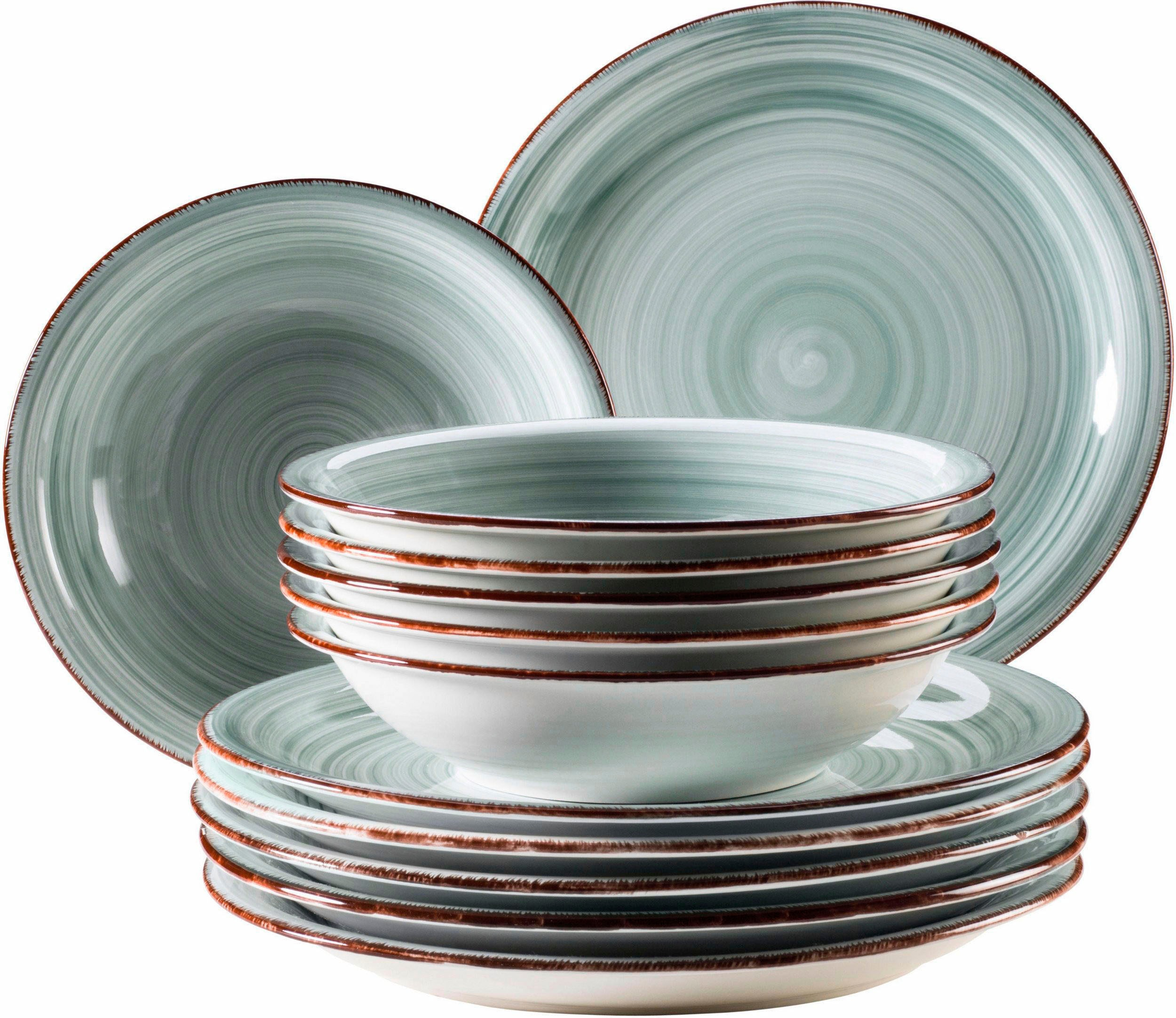 home affaire tafelservice bel tempo 12 tlg keramik. Black Bedroom Furniture Sets. Home Design Ideas