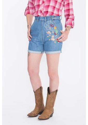 QueenKerosin Jeansshorts, Stickereien im Western-Look kaufen