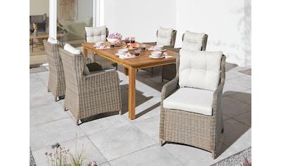 KONIFERA Gartenmöbelset »Texas«, (19 tlg.), Tisch BxTxH: 100x200x75 cm, aus 2 cm... kaufen