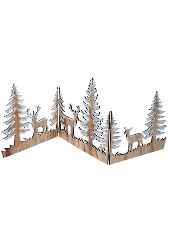 Dekoobjekt »Zauberwald«, Weihnachts-Silhouette aus Holz kaufen