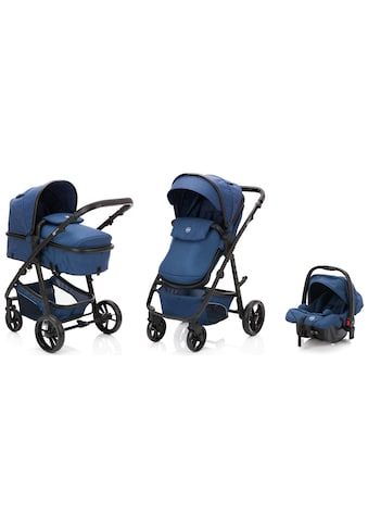 Fillikid Kombi-Kinderwagen »Panther, blau/melange«, 22 kg, mit Babyschale kaufen