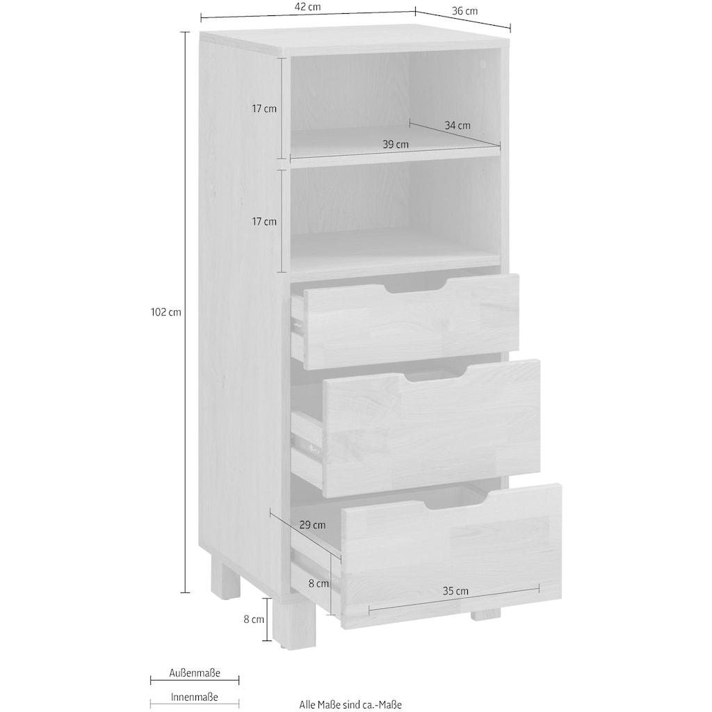 Home affaire Unterschrank »April«, Schubladenfronten aus Massivholz, Breite 42 cm