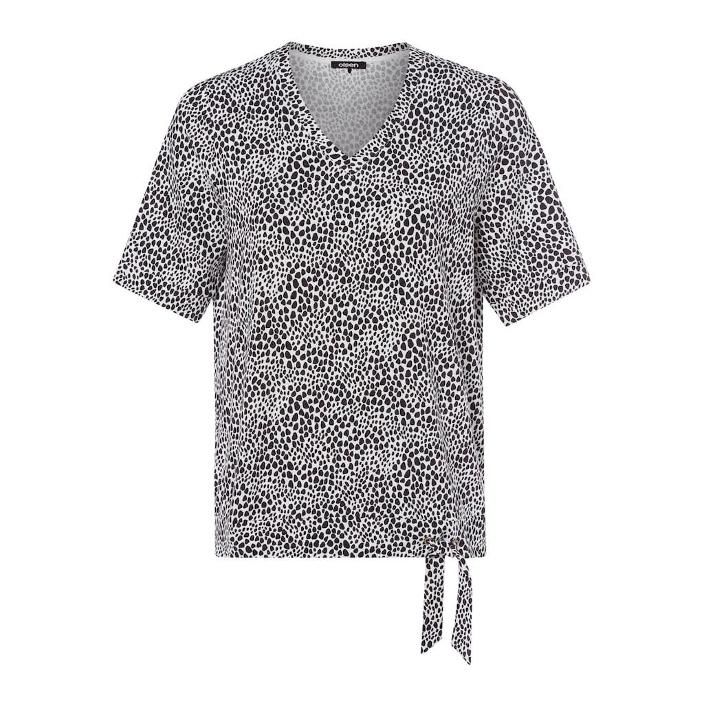 Olsen V-Shirt, mit Bindeband am Saum