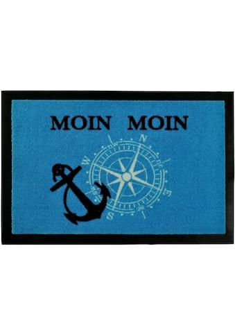 HANSE Home Fußmatte »Moin Moin«, rechteckig, 7 mm Höhe, Fussabstreifer, Fussabtreter, Schmutzfangläufer, Schmutzfangmatte, Schmutzfangteppich, Schmutzmatte, Türmatte, Türvorleger, mit Spruch kaufen