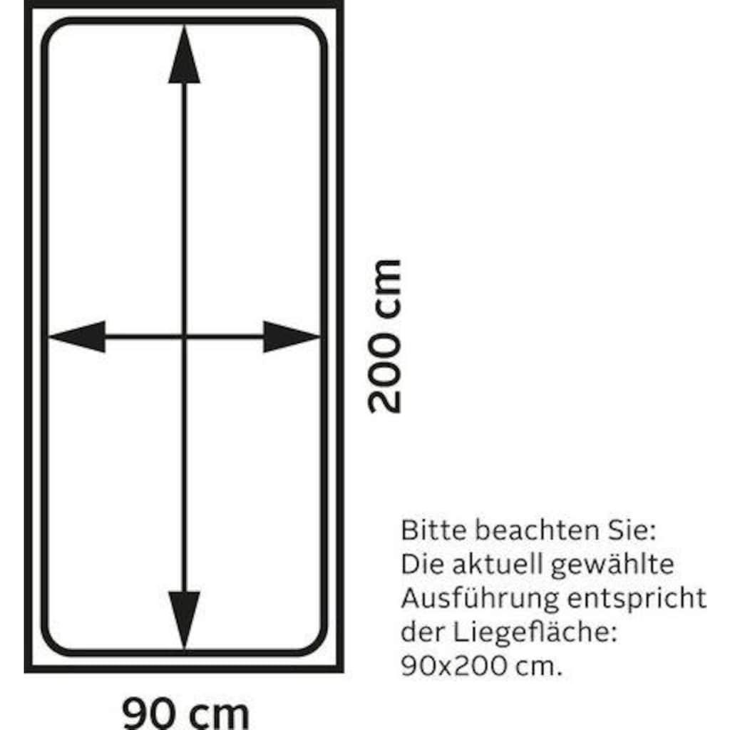 Lüttenhütt Hochbett »Alpi«, aus massivem Kiefernholz, inklusive Leiter und Panel, Außenmaßenbreite 103 cm