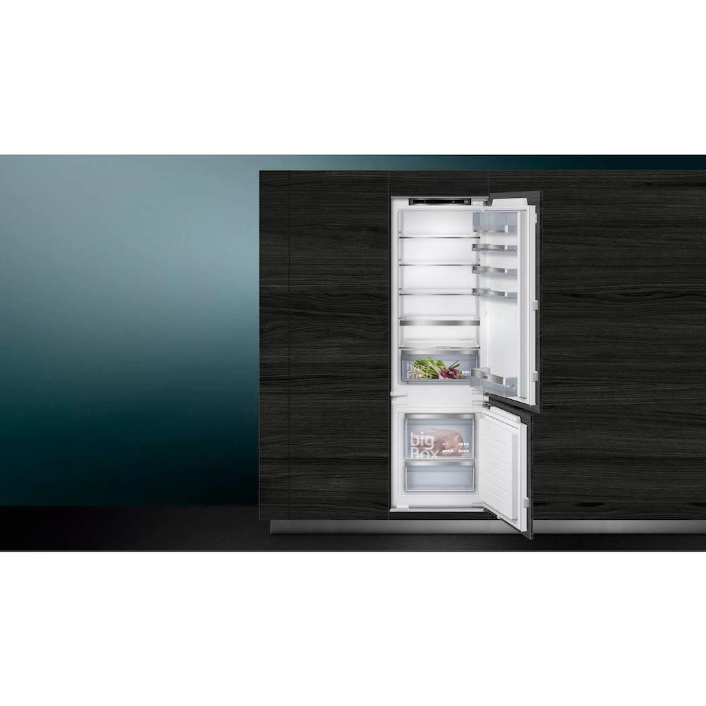 SIEMENS Einbaukühlgefrierkombination »KI87SADE0«, iQ500